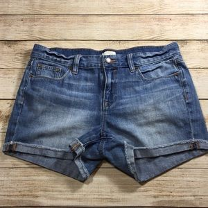 J crew denim jean shorts size 28